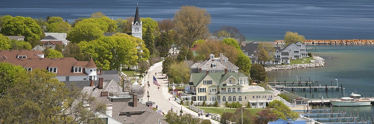 Overlooking Mackinac Island from the fort